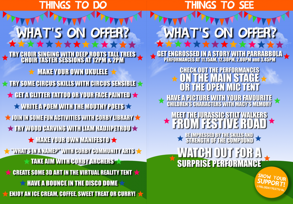 Field Day Festival Programme Back