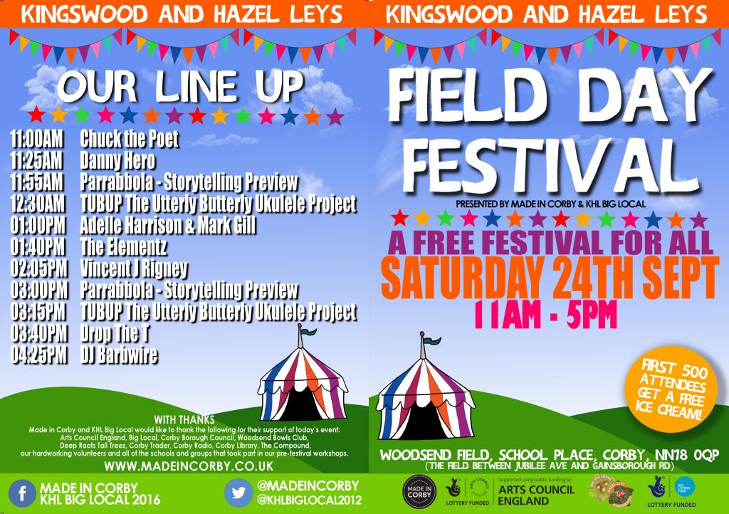 Field Day Festival Programme Front