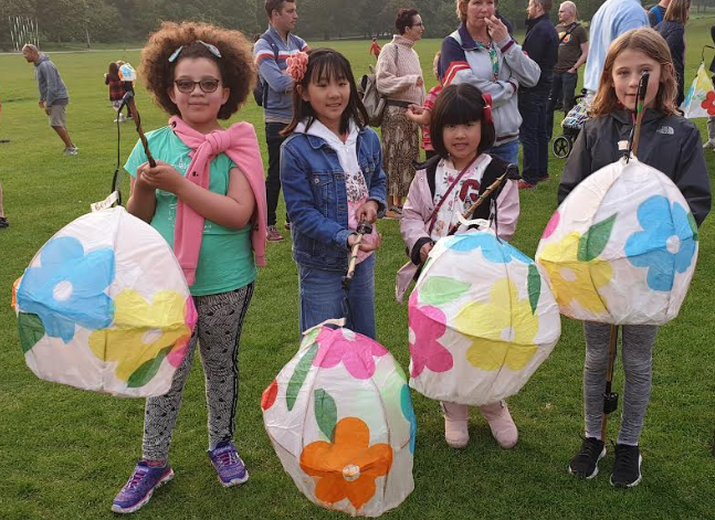 Make a lantern for the Mardi Gras parade at Grow Festival